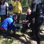 Взвешивание рыбы, 1 день соревнований